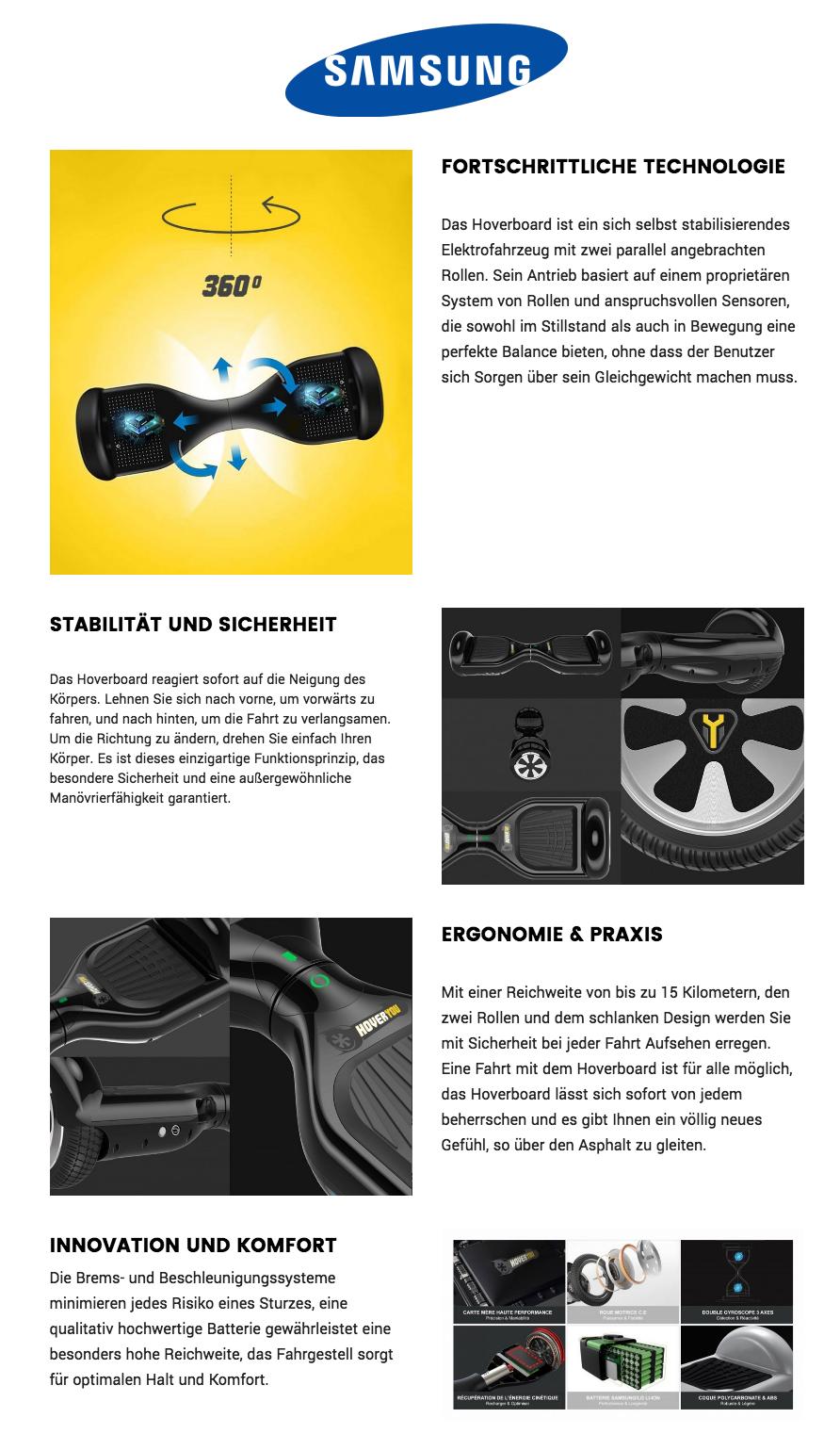 Hoverboard Schwarz Matt Segways zu verkaufen Hoverboard Smart